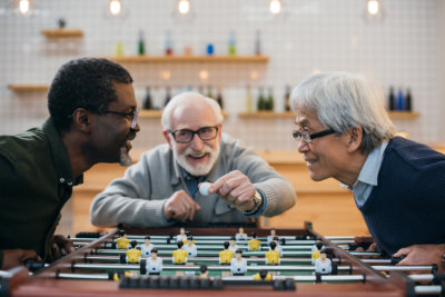 male elders playing